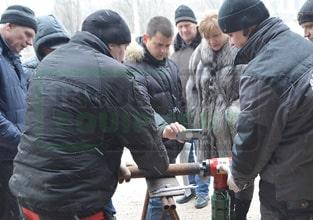 Снятие фаски на трубе машиной ISY