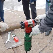 Установка ручного фаскоснимателя ISY Huawei на трубу