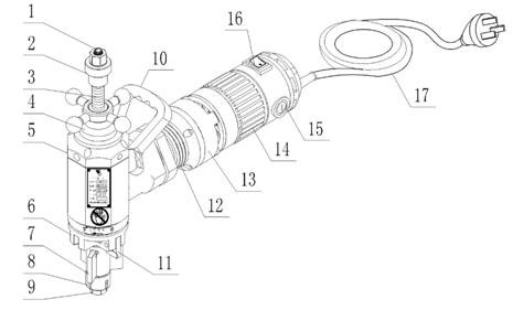 Основные узлы и детали фаскоснимателя ISY-80
